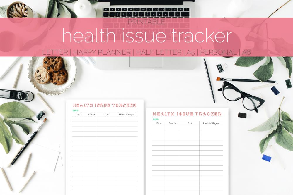 Health Issue Tracker Freebie | Rourke Planners