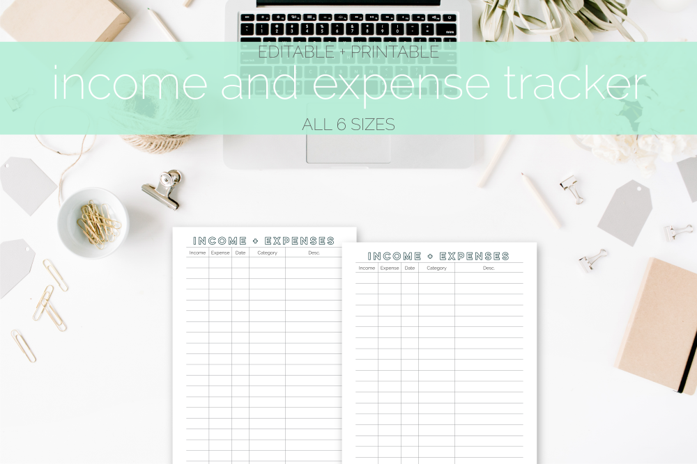 Income & Expense Tracker Freebie | Rourke Planners