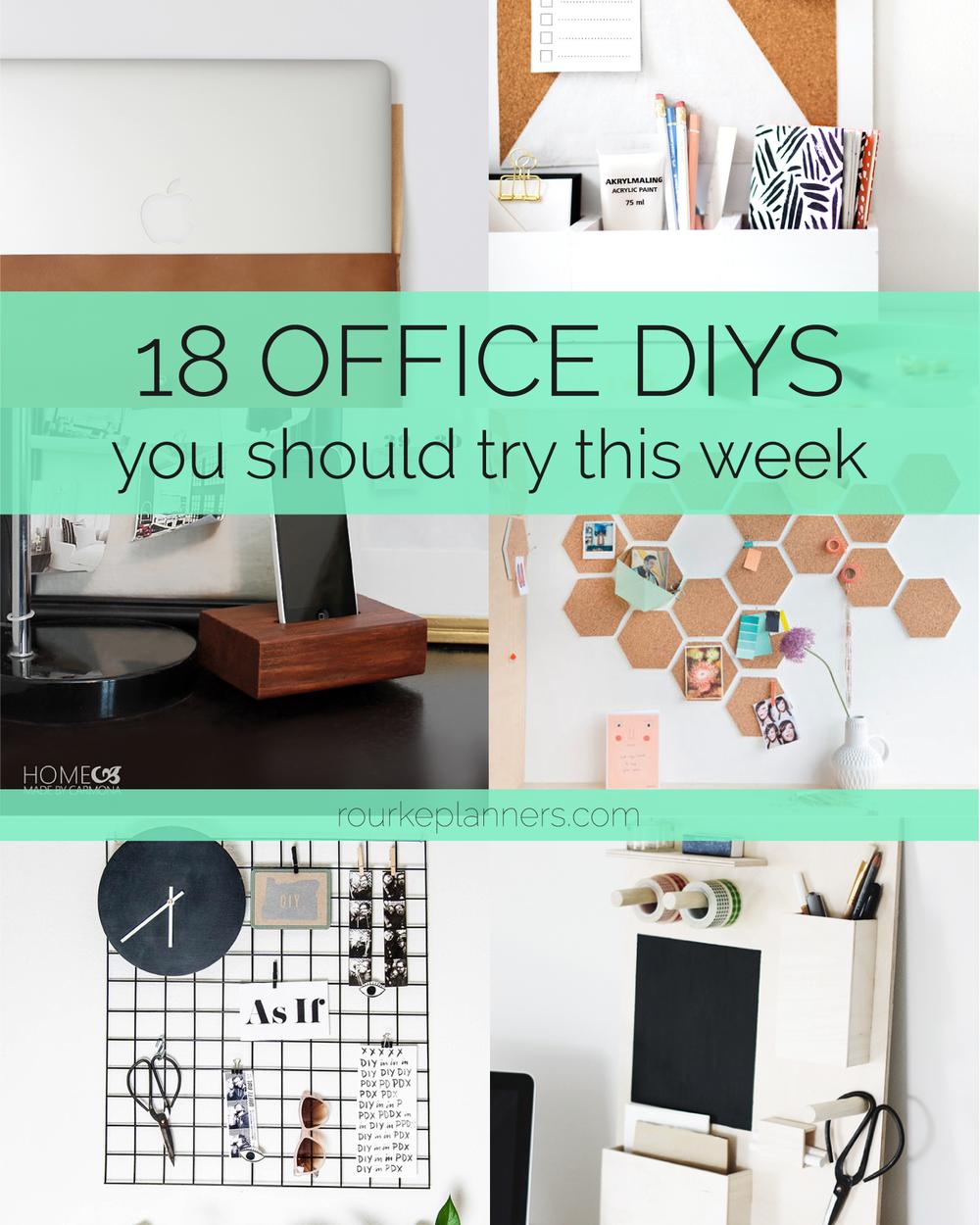18 Office DIYs to try this week | Rourke Planners