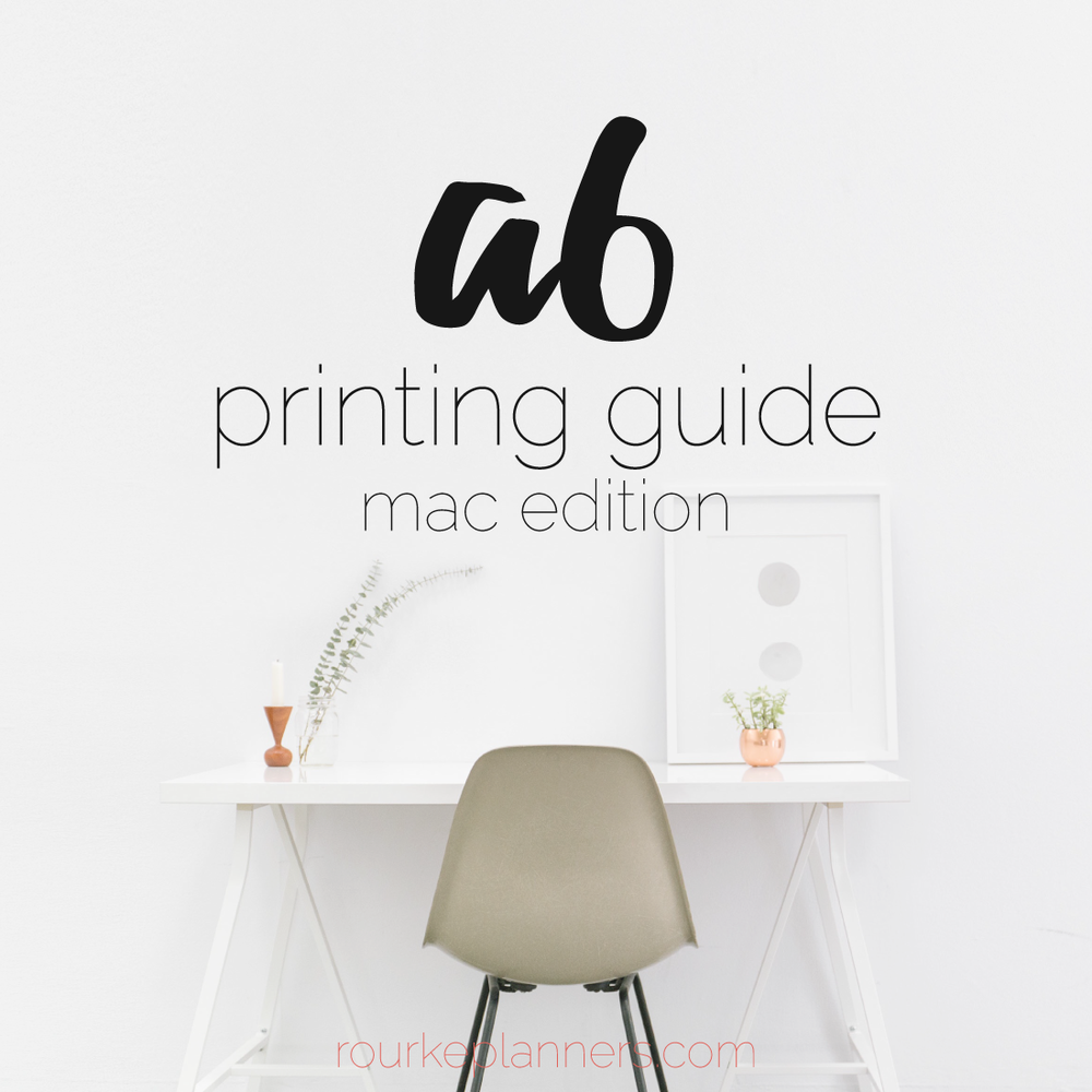 How to Print A6 Size Pages on a Mac | Rourke Planners