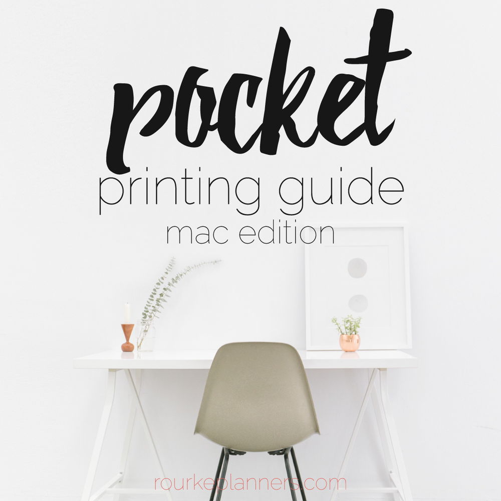 How to Print Pocket Size Pages on a Mac | Rourke Planners