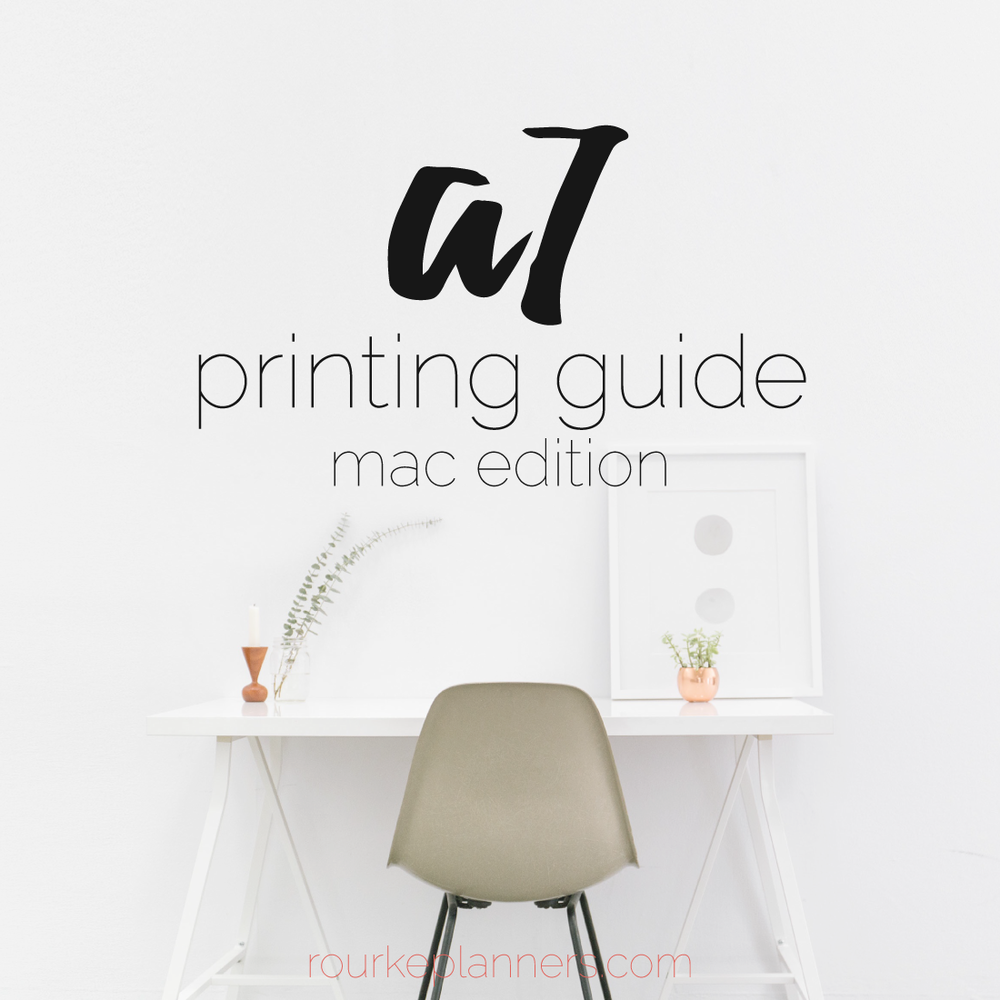How to Print A7 Size Pages on a Mac | Rourke Planners