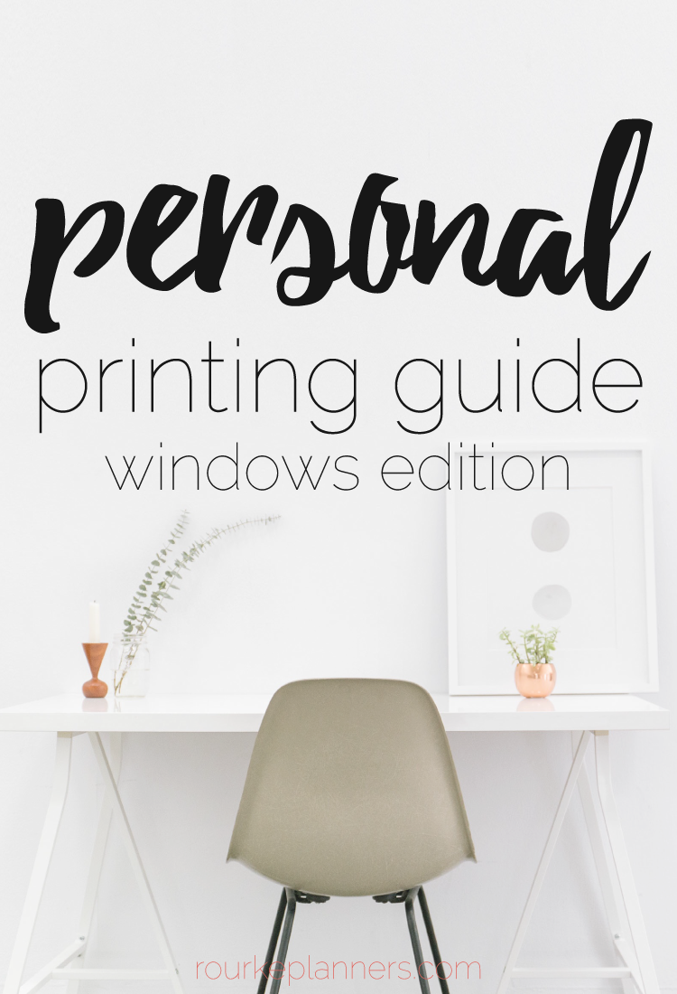 How to Print Personal Size Pages in Windows | Printing Guides | Rourke Planners