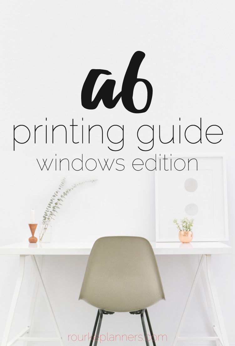 How to Print A6 Size Pages in Windows | Printing Guides | Rourke Planners