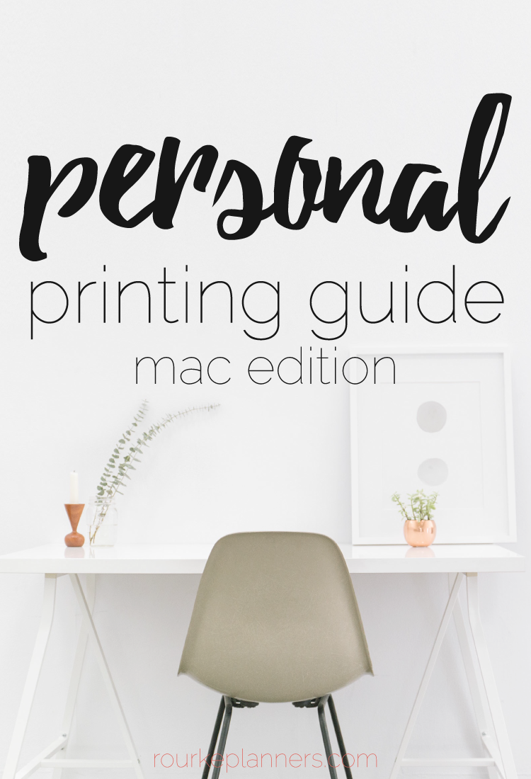 How to Print Personal Size Pages on a Mac | Printing Guides | Rourke Planners