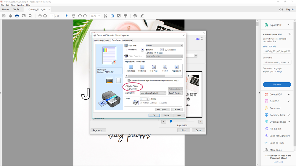 How to Print Happy Planner Pages on Windows | Rourke Planners