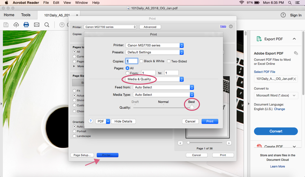 How to Print A5 Size Pages on a Mac | Printing Guides | Rourke Planners