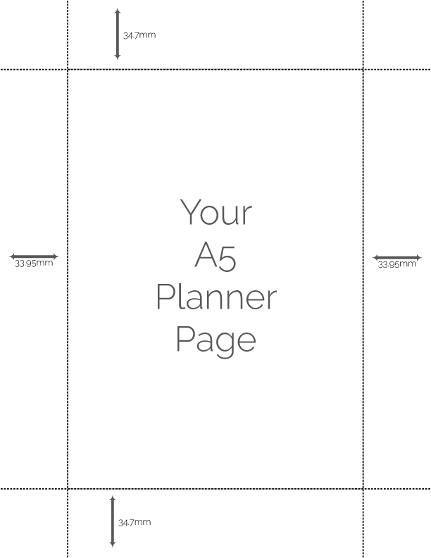 centehow to print a5 size pages on a mac printing guides rourke planners - Print Pages
