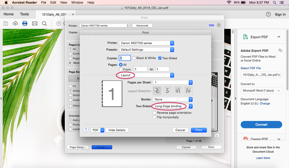 How to Print A6 Size Pages on a Mac | Printing Guide | Rourke Planners