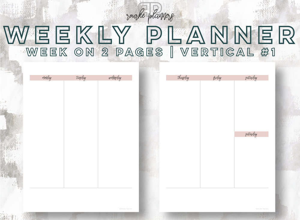 Weekly Planner - Vertical #1 | Rourke Planners