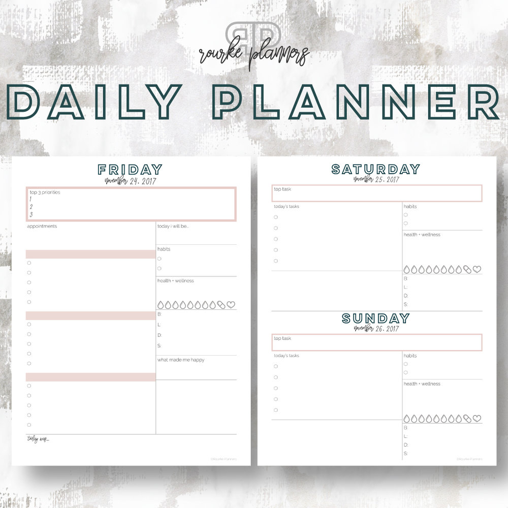 The Daily Planner | Rourke Planners