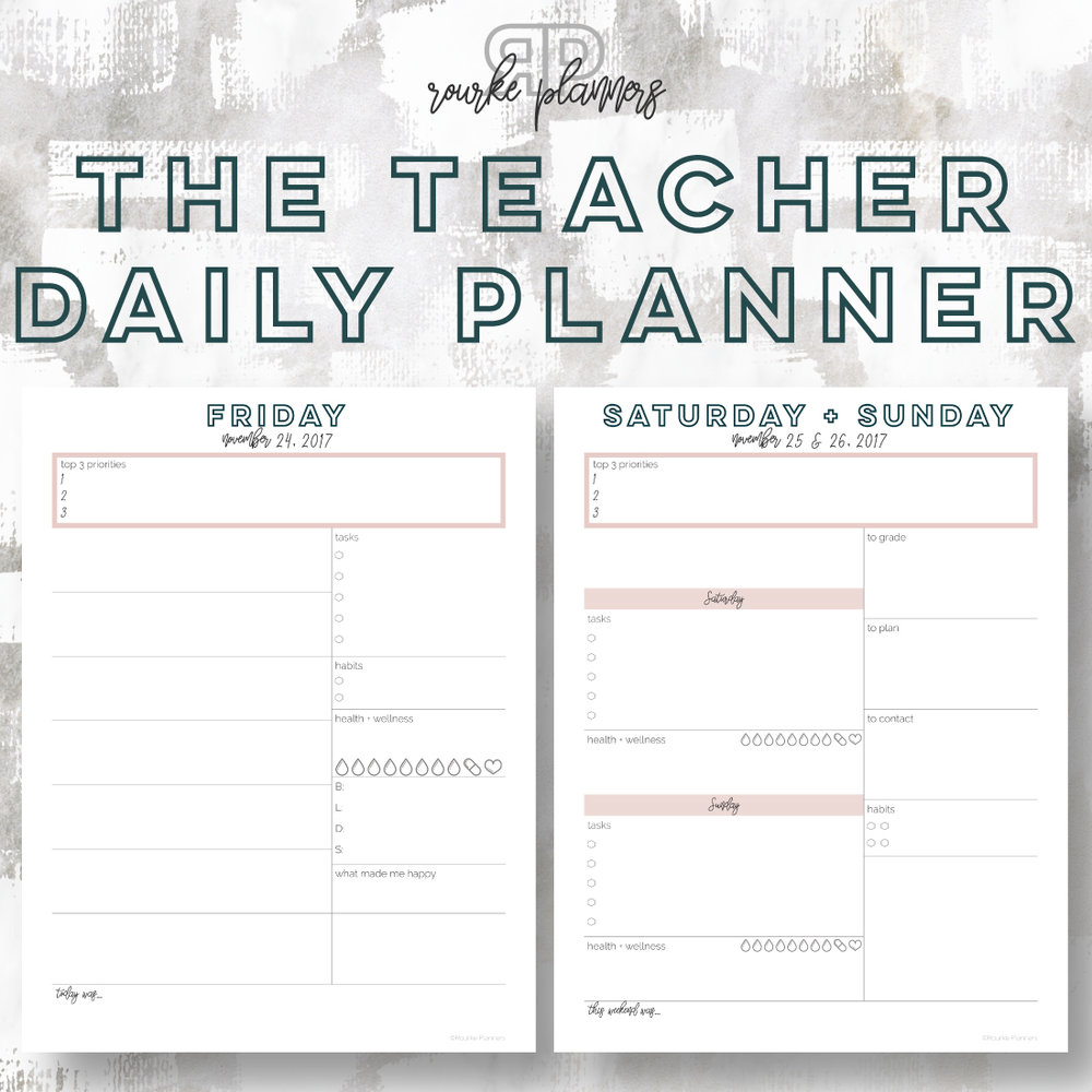 The Teacher Daily Planner | Rourke Planners
