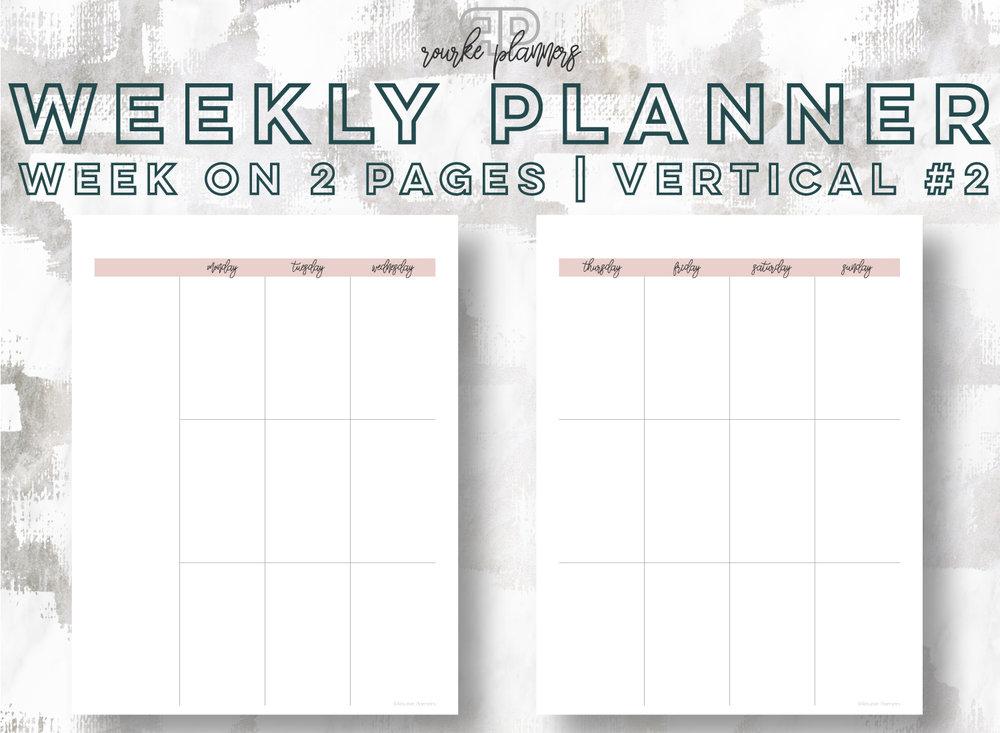 Weekly Vertical Planner #2 | Rourke Planners
