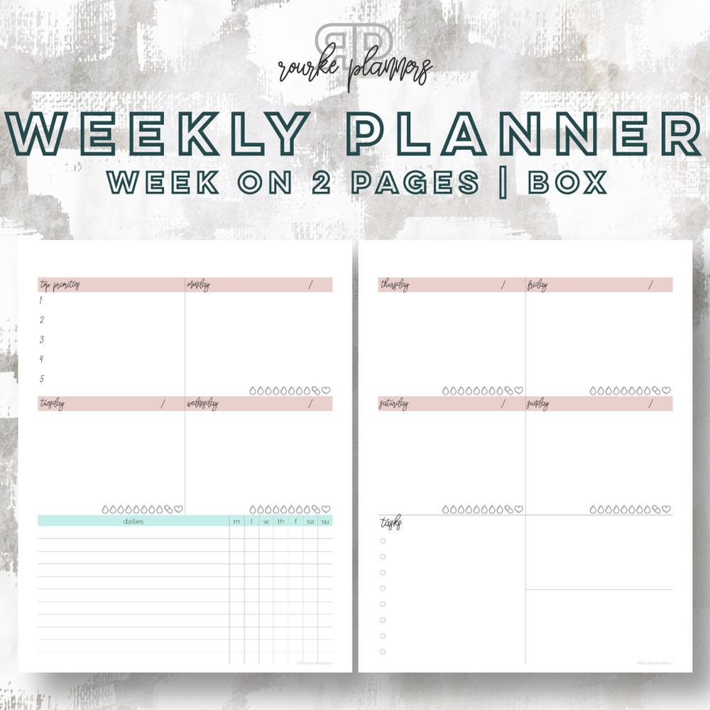The Box Weekly Planner | Rourke Planners