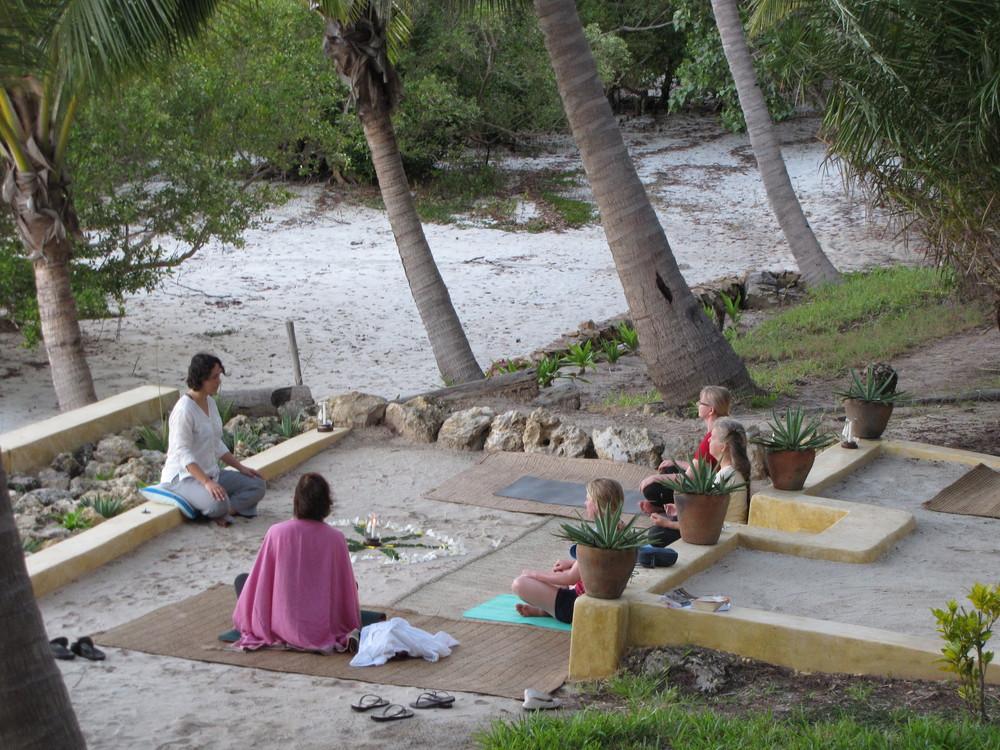 Sunset mandala meditation