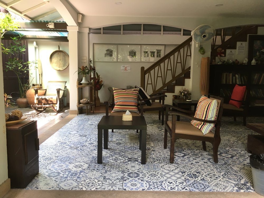 A stop at Baan Kudi Jeen, a museum and cafe, owned by a Thai Portuguene family. A beautiful home that still reflects the Portuguese legacy in its design and azulejos.