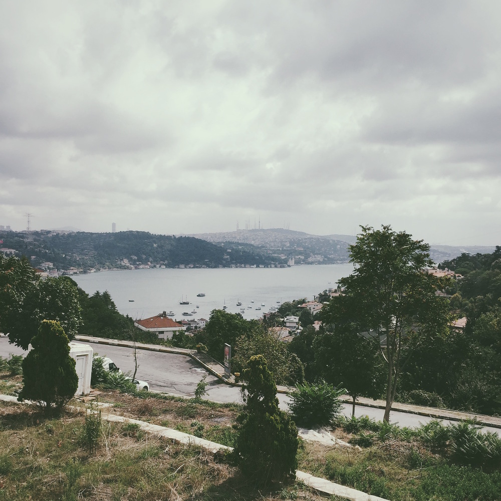 View of the Bosphorus Strait and the Asian side of Istanbul from Bogazici campus