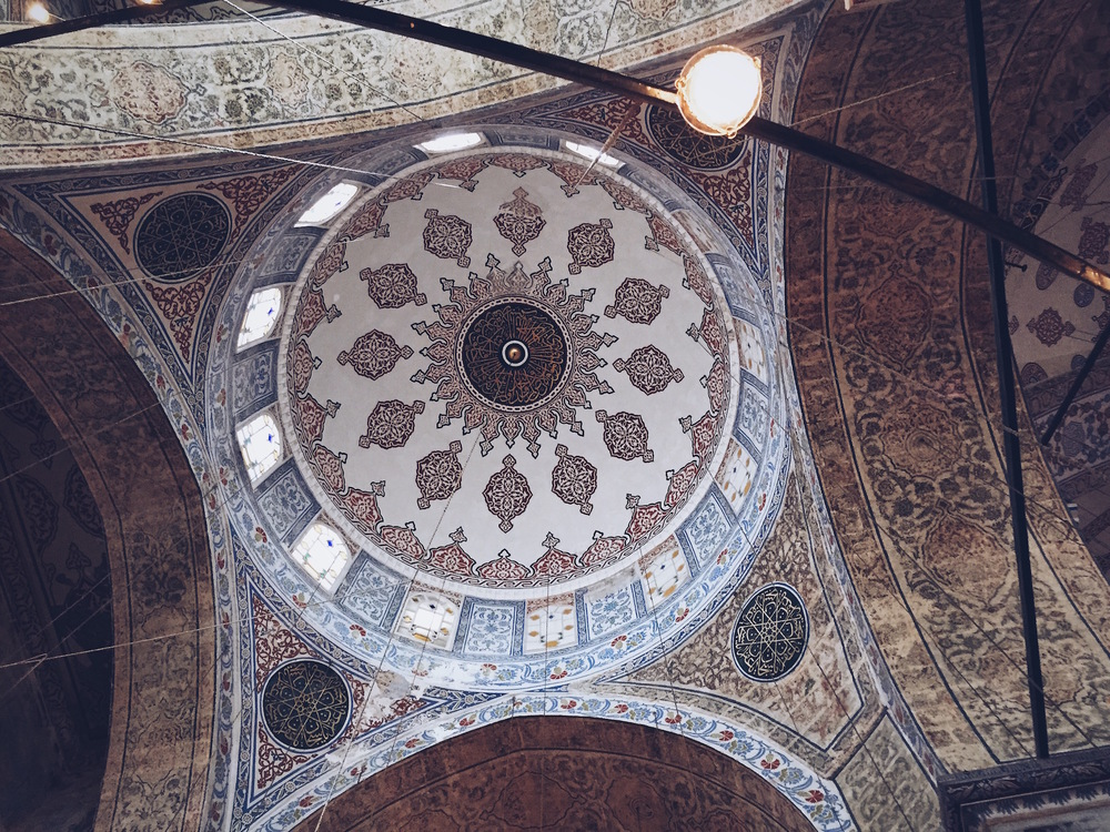 Multiple domes and arches in the Sultan Ahmed Mosque