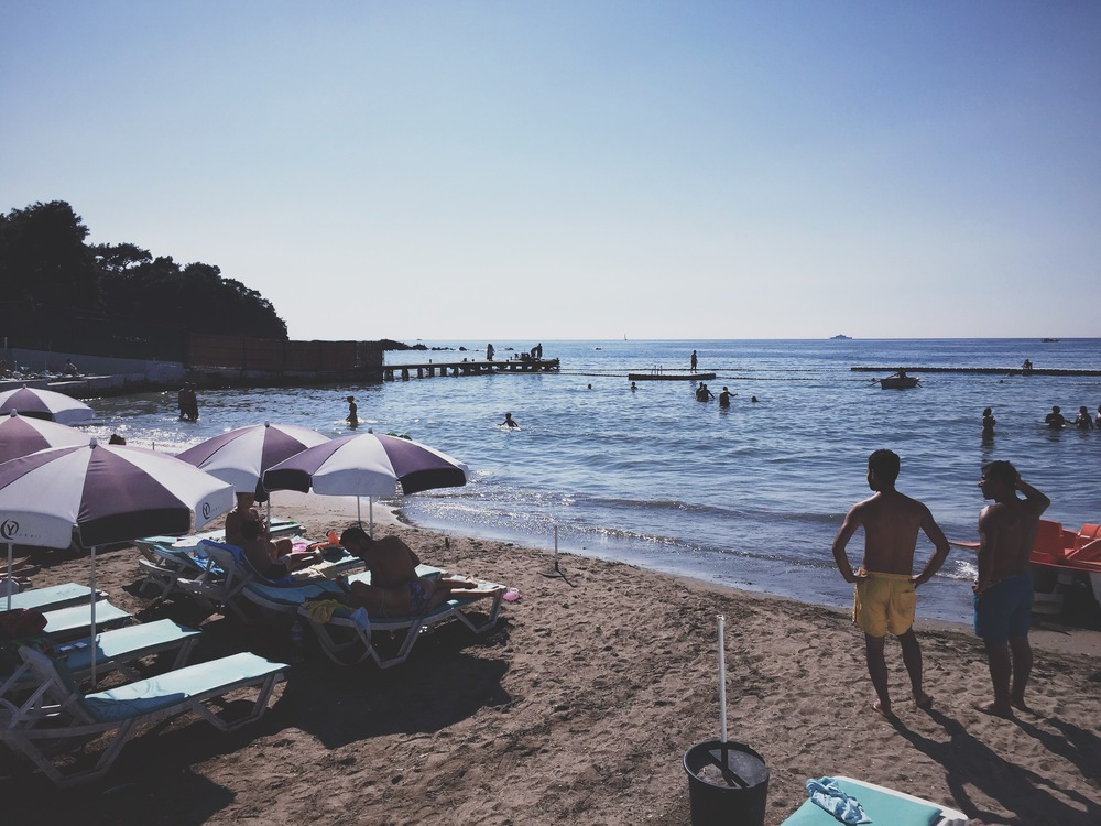 The only beach on Büyükada open at the end of the season