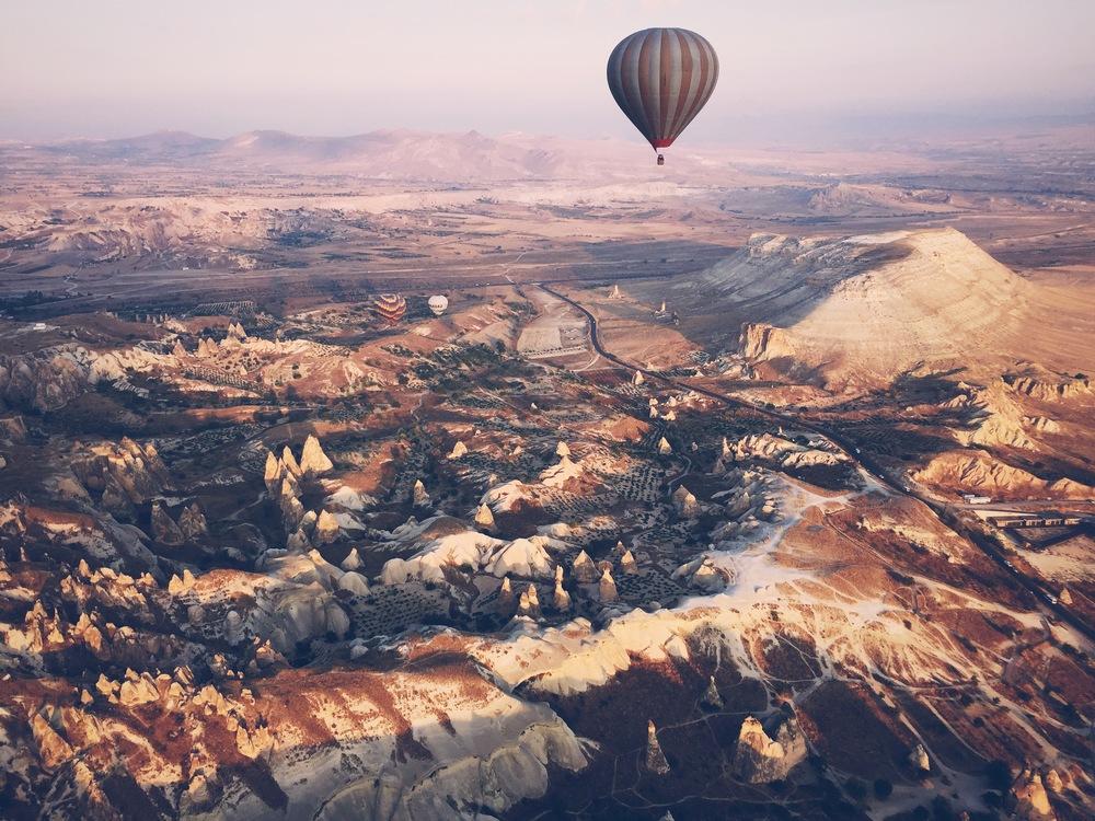 View of Kapadokya from the balloon