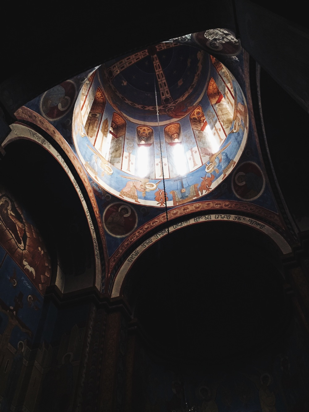 Typical dome of a Georgian Orthodox Church