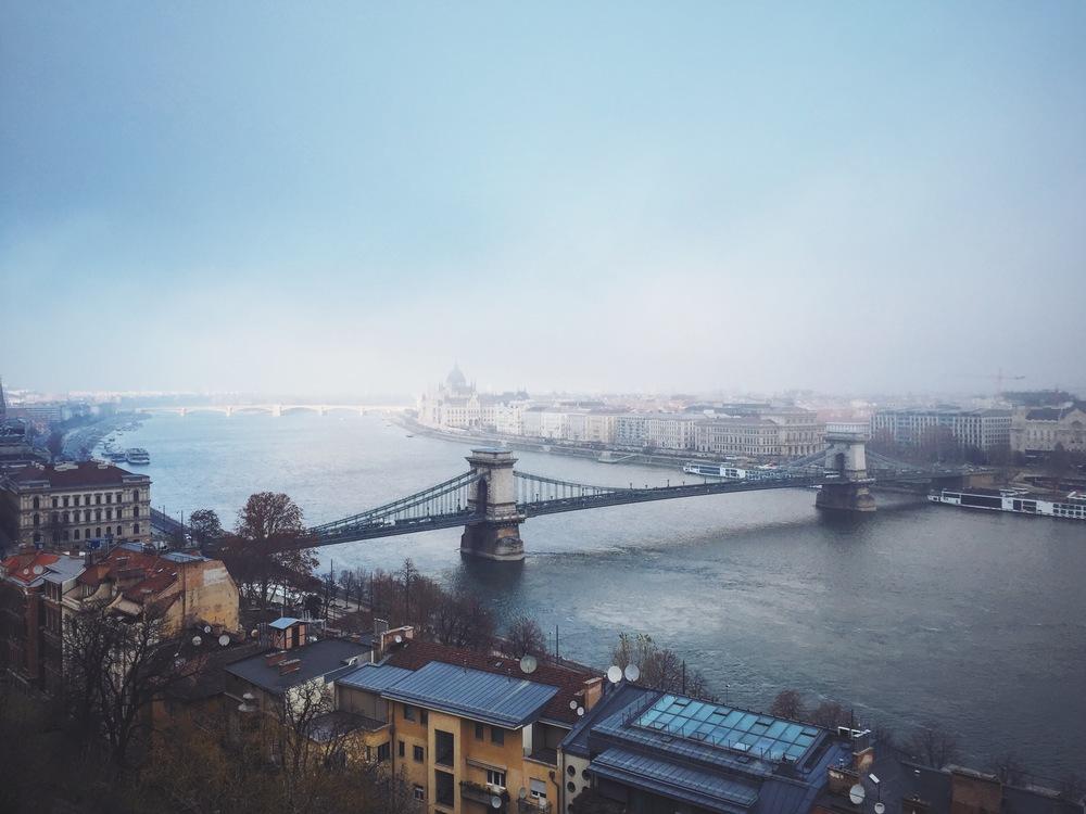 Chain Bridge and a Foggy Parliament Building