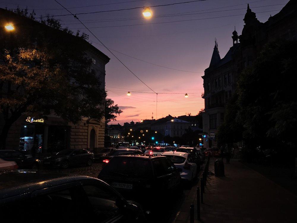 Dusk in Lviv
