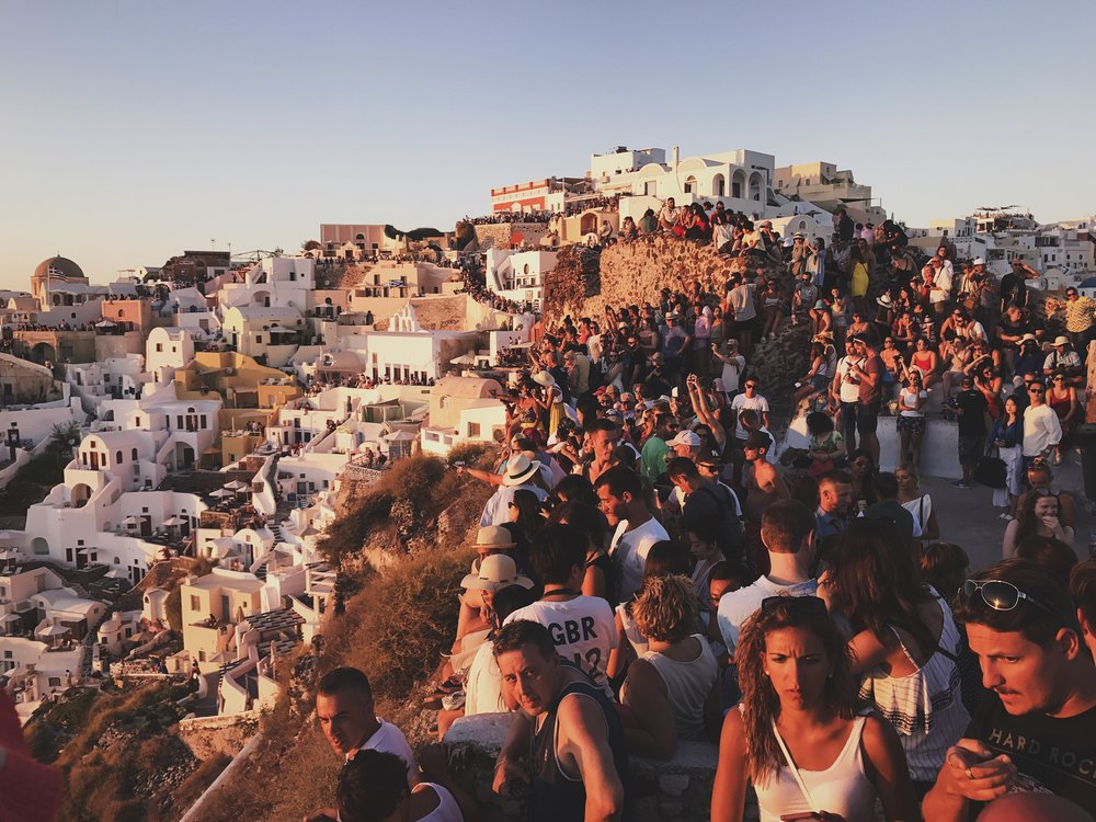 The sunset crowd at Oia