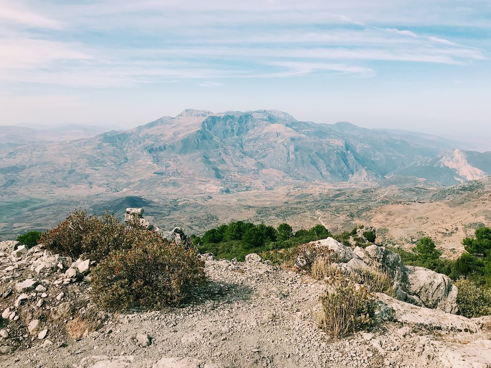 The summit of Jebel el Kelaa