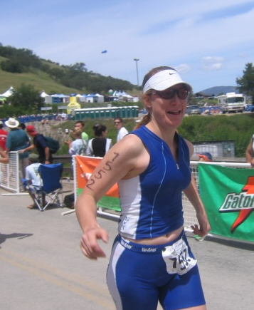 My first run off the bike, Wildflower Olympic, 2005.