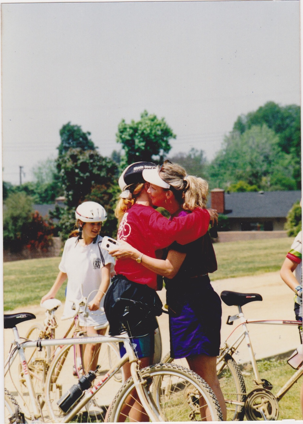 Post Bike Marathon mom hug, '93.