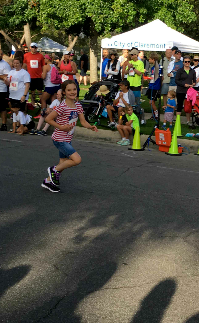 Jenna finishing strong.