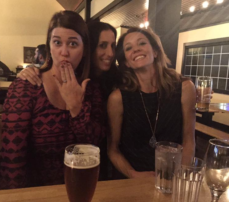 The ladies of Libby Pit reunite! Jen, Sarah, and Amy.
