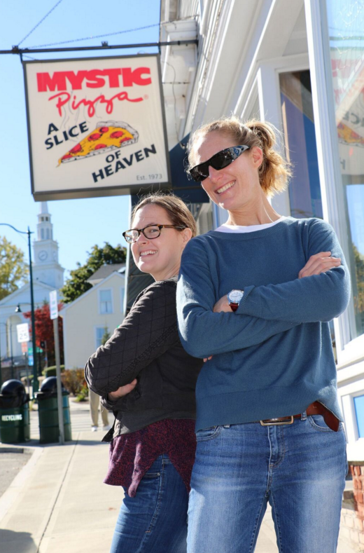 Jen C. and I enjoying a day in Mystic.