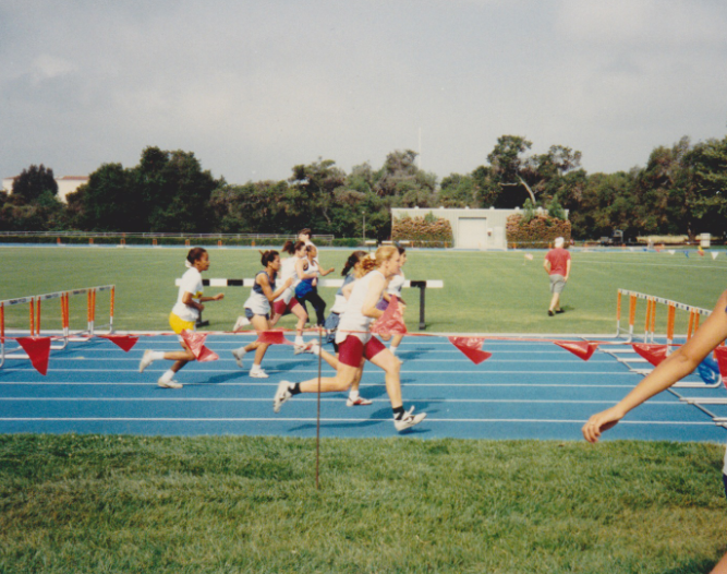 Claremont Invitational at Pomona College, 1994. This was before I grasped the 3-Step.