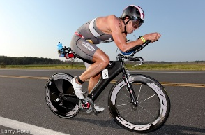 TJ Tollakson pedaling the 2001 Zipp in 2011.