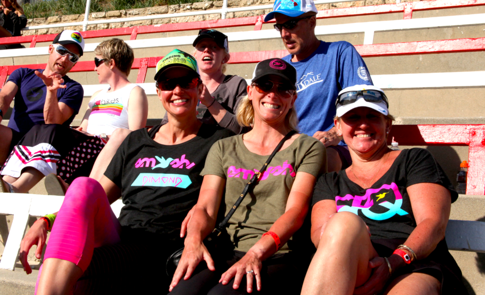 Mary, Tina Moore, and Robin Pelton, with Kelly in the second row.