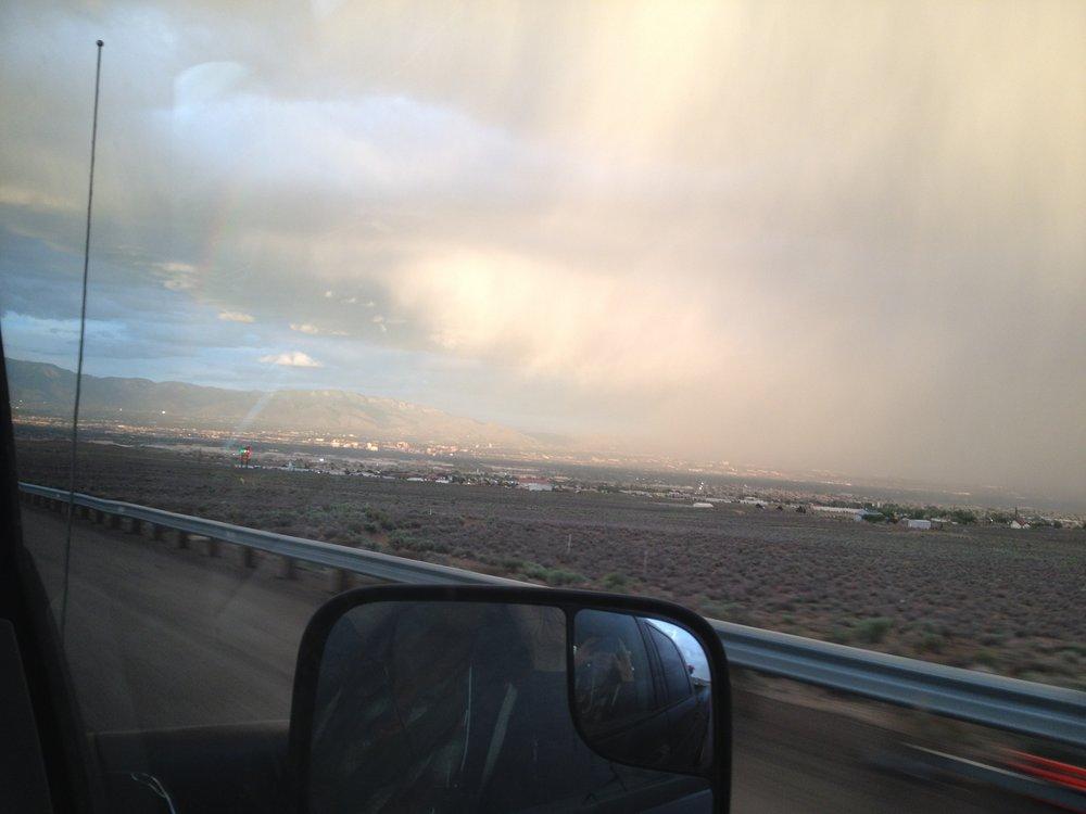 Arriving in Albuquerque.