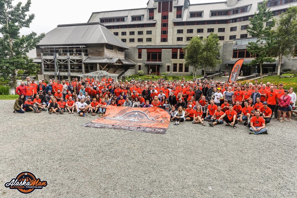 The finishers and their support teams.