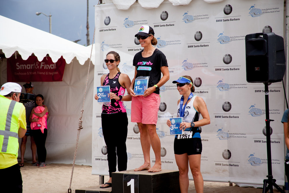 The initial Women's 35-39 Age Group podium.