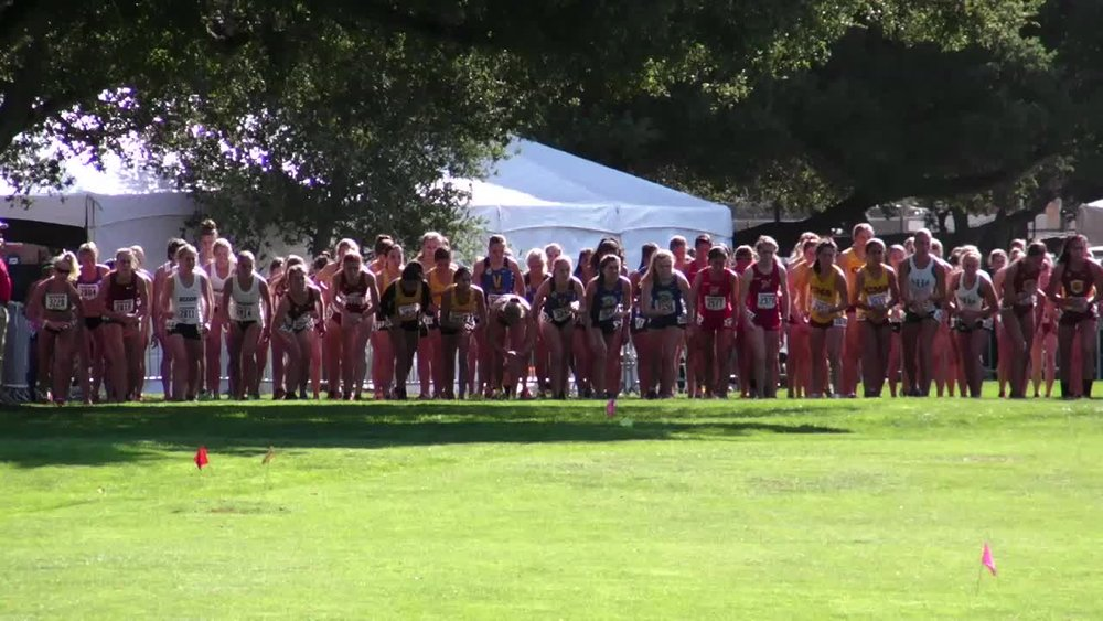 The Stanford Invitational starting line.