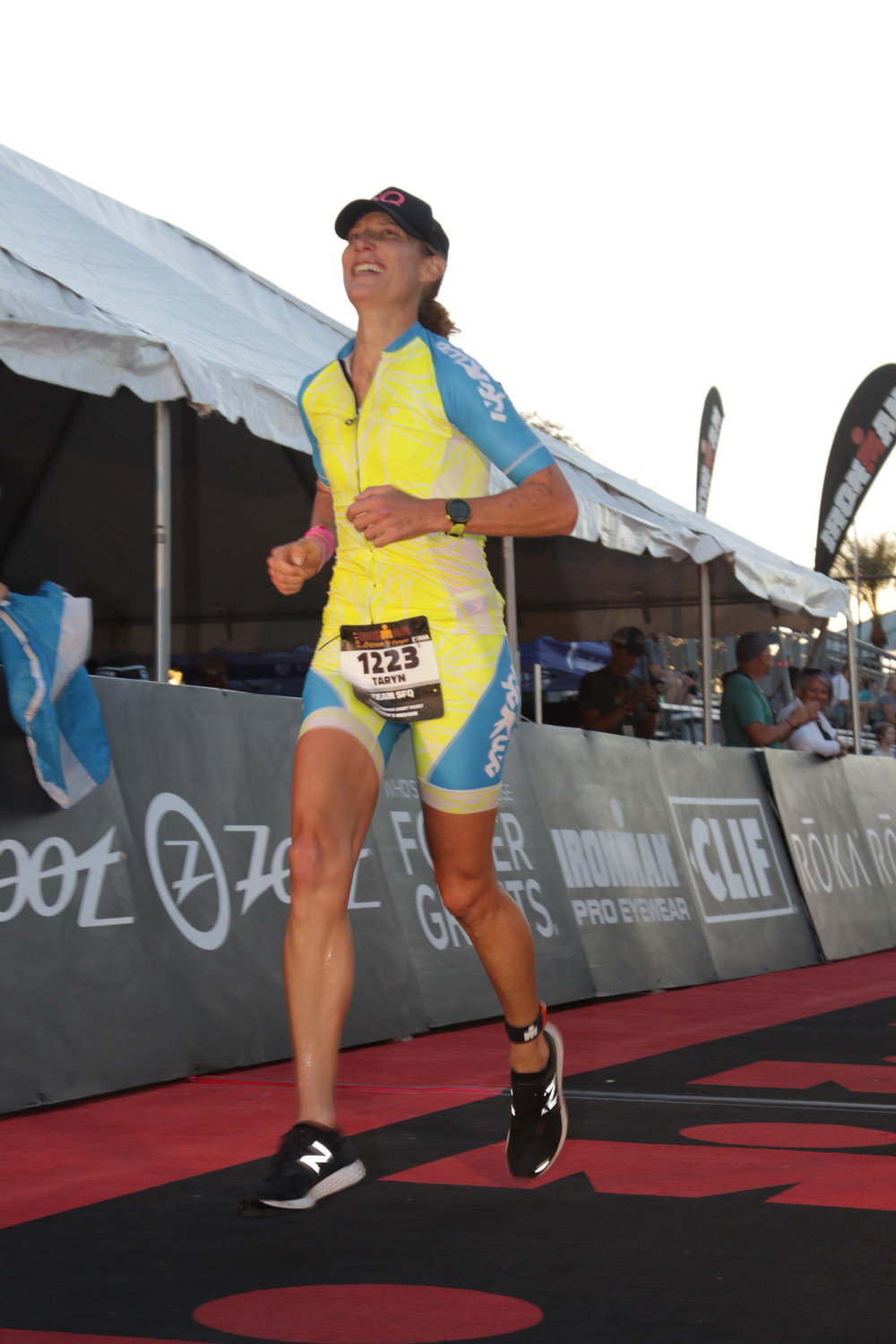 Realizing a goal ten years in the making, qualifying for Kona at Ironman Arizona, 2017.