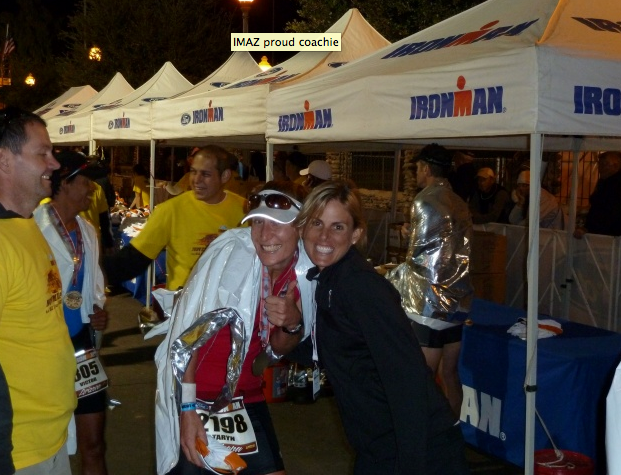 Yours truly and my coach, Hillary Biscay,after my first Ironman Arizona finish in 2010. We've come a long way since then.:)