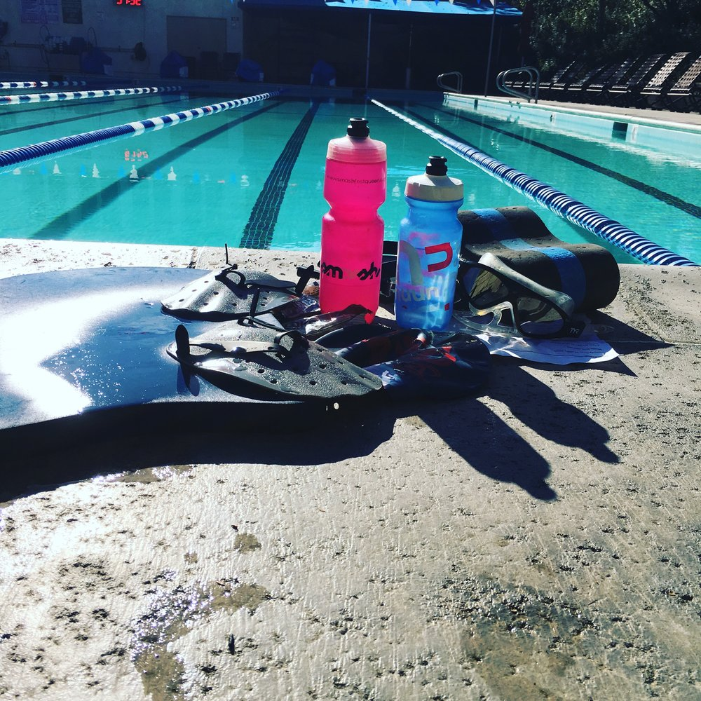 The aftermath of my New Year's Eve 10k swim.