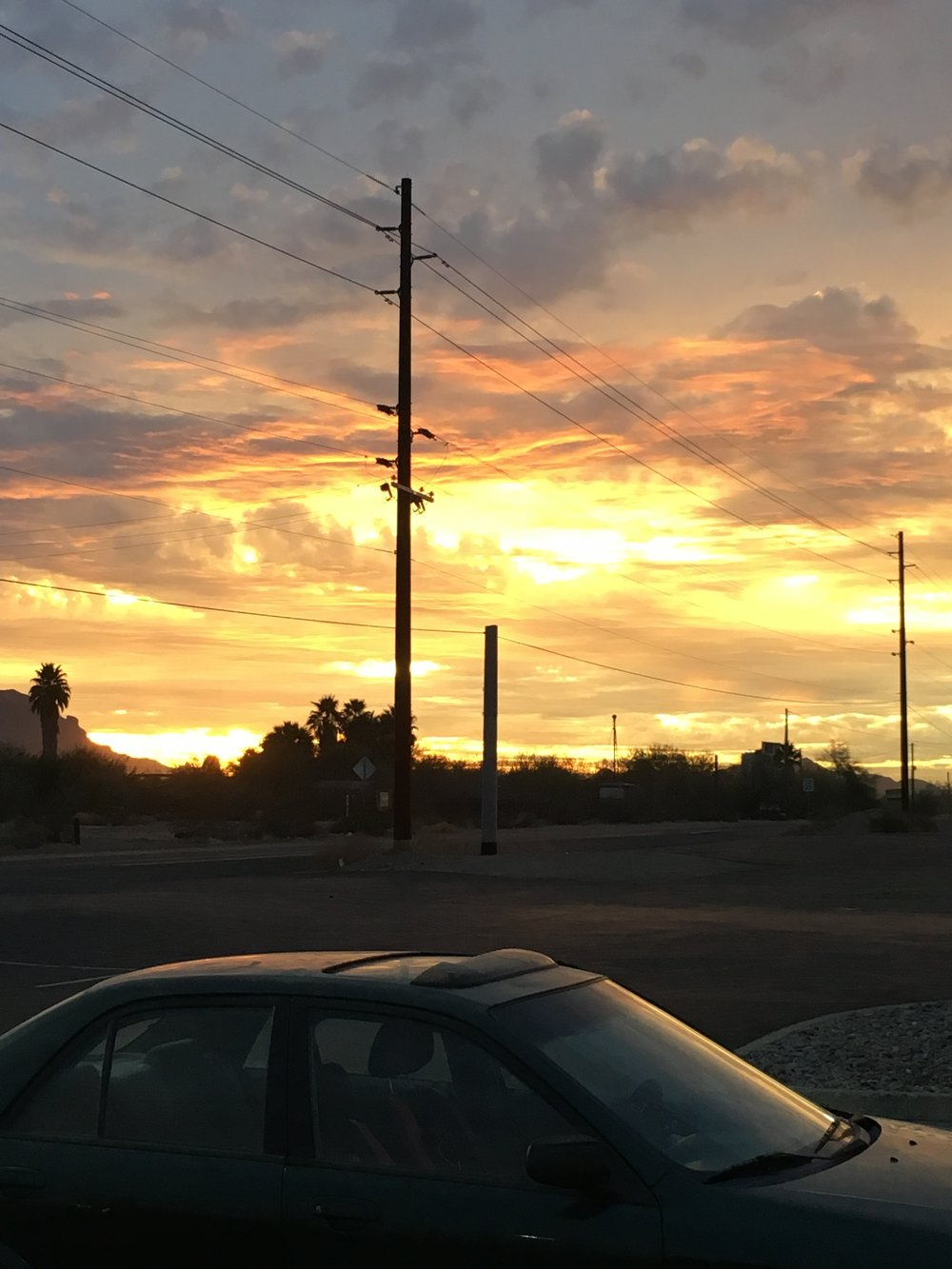 Sunsets in the southwest are always impressive.