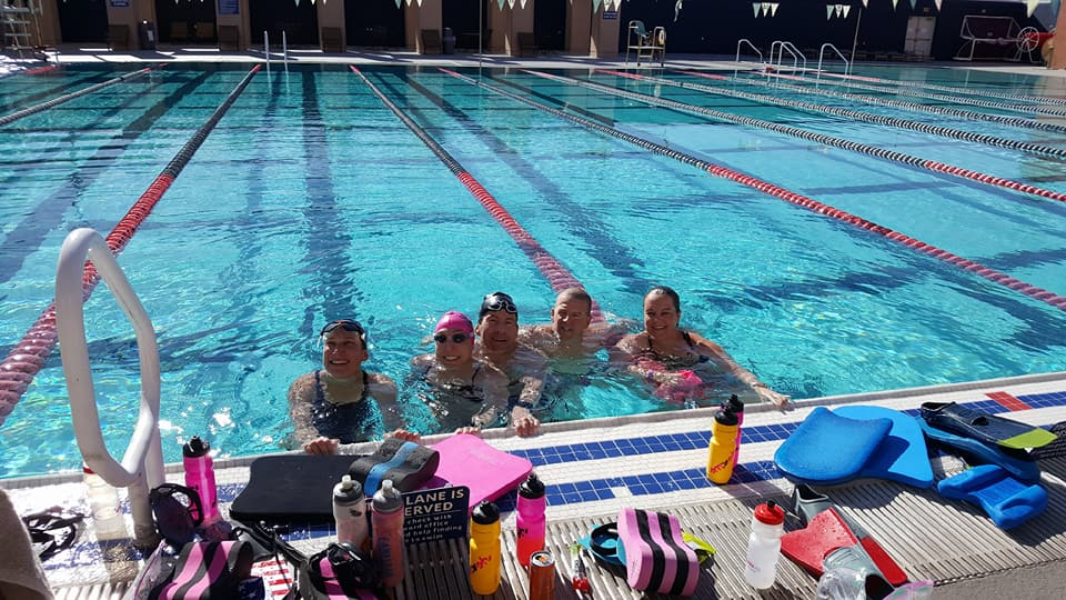 My 10k swim lane buddies. Photo credit: Dan Beaver.