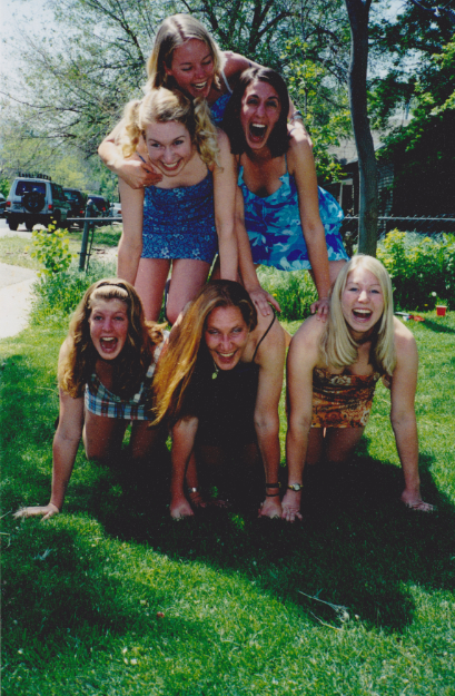May 11th, 2001, celebrating CU graduation day with my friends and roommates.