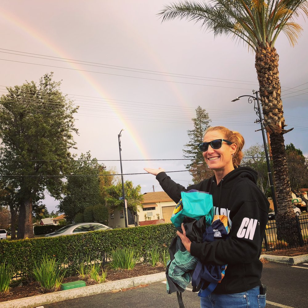 An Irish girl at the end of a rainbow.:)