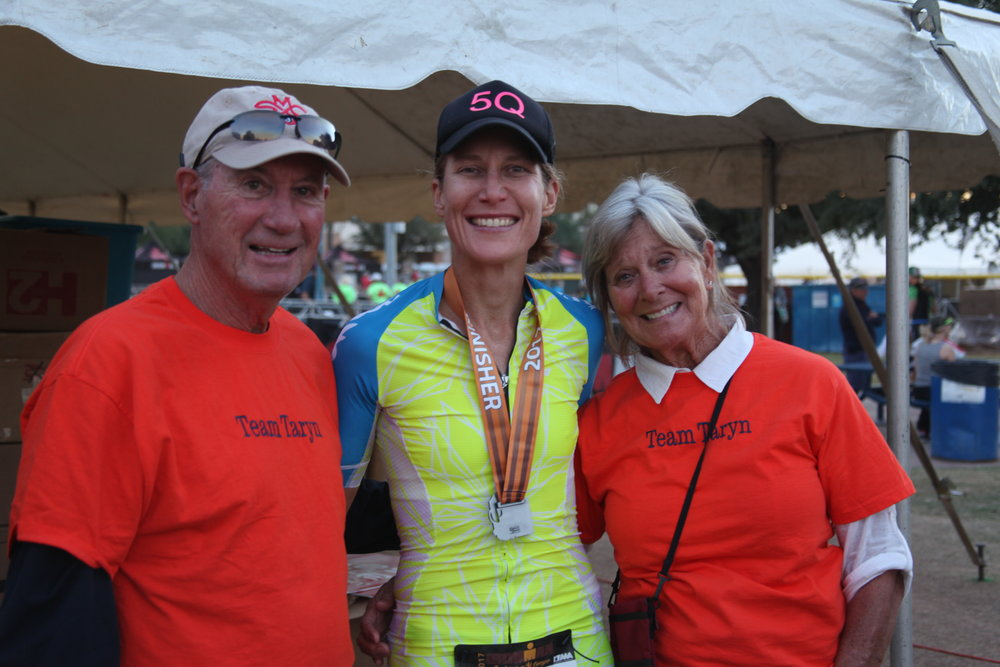 My dad and step-mom Sally, after Ironman Arizona, 2017.