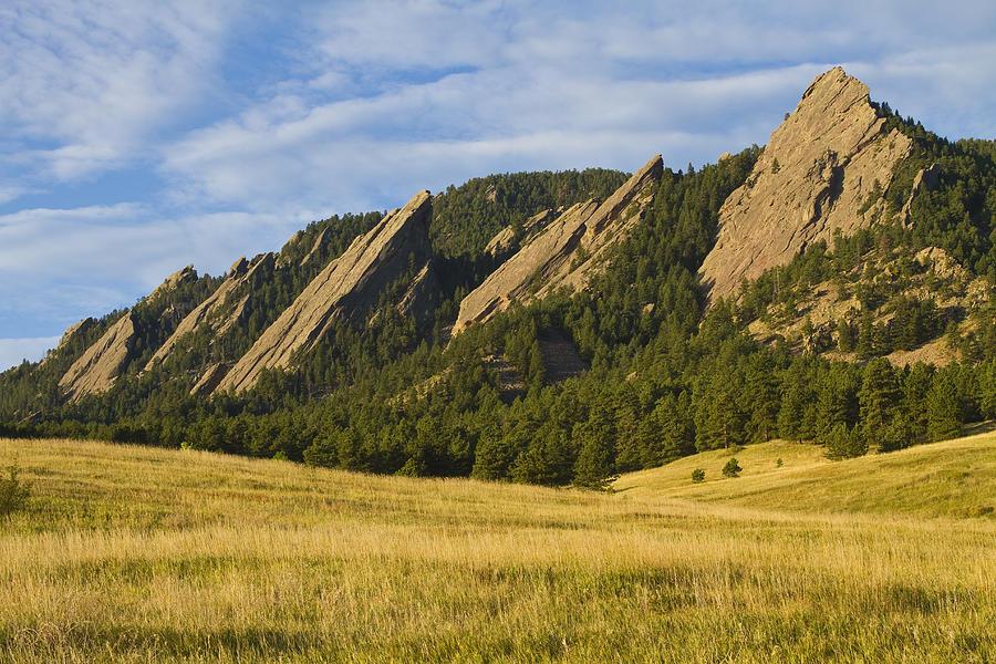 The Flatirons, Boulder's signature mountain range.